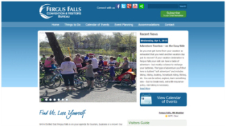 Fergus Falls Visitors Bureau Website