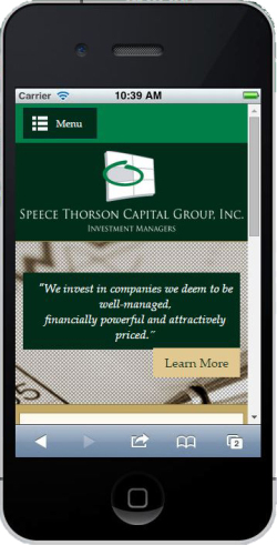 Speece Thorson mobile site