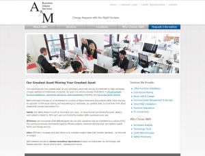 A&M Business Interior website