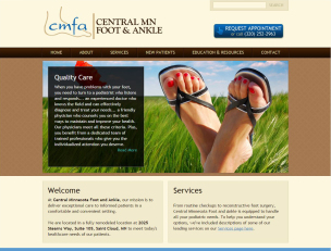 Central MN Foot and Ankle website