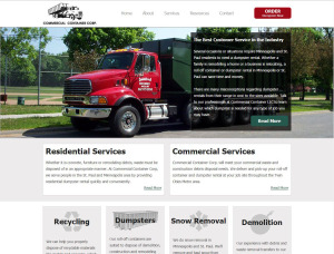 Commercial Container website