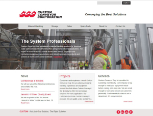 Custom Conveyor Corp website