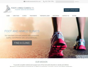 Crystal Vision Clinic website