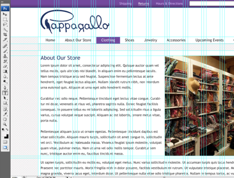Pappagallo website design file