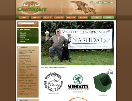 Prairie Grass Outfitters ecommerce
