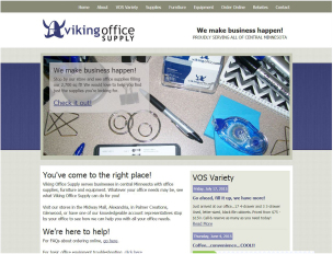 Viking Office Supply website