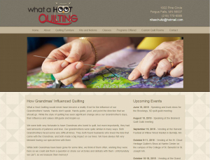 What a Hoot Quilting website