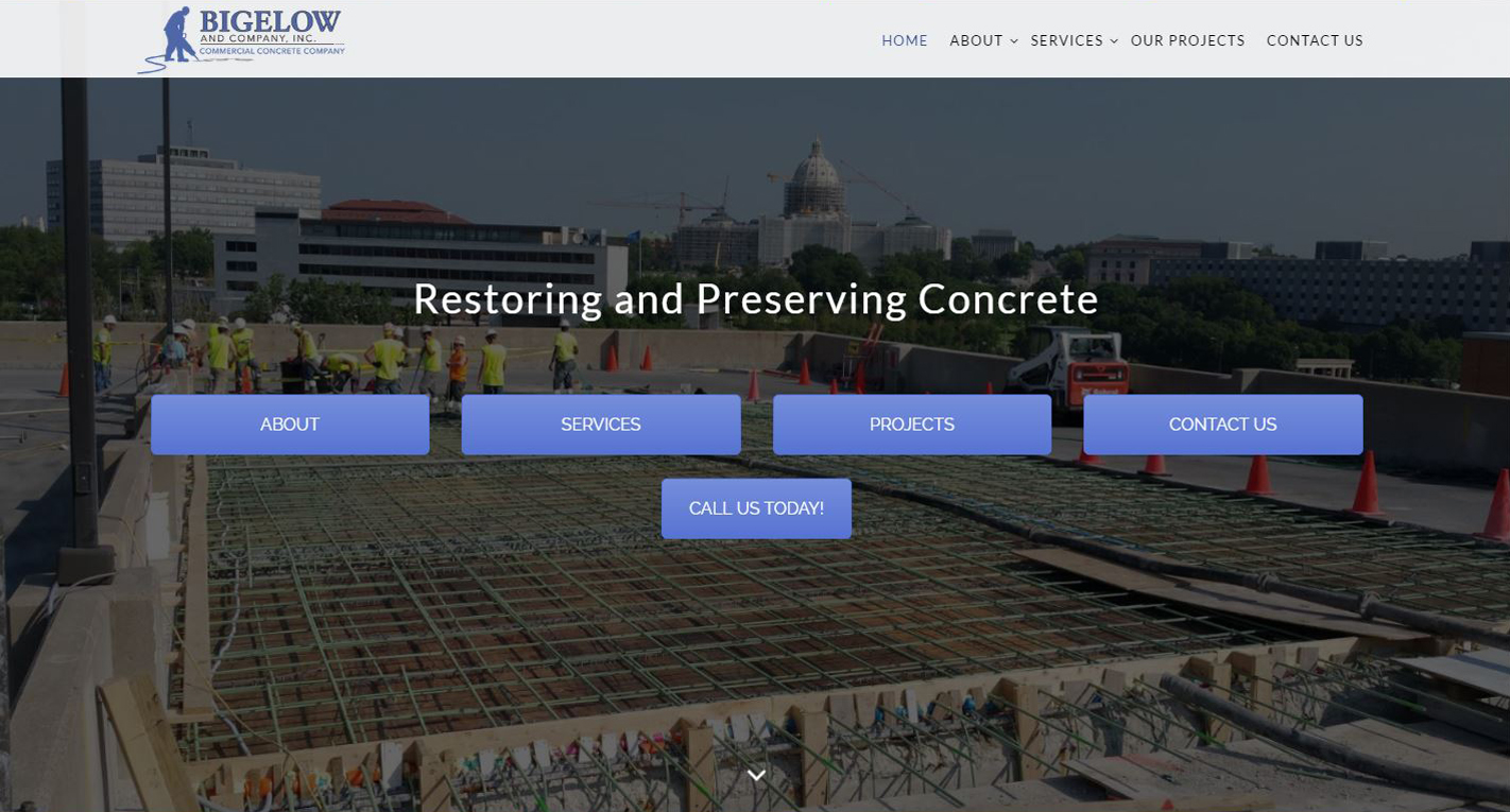 Commercial Concrete Contractor New Website design