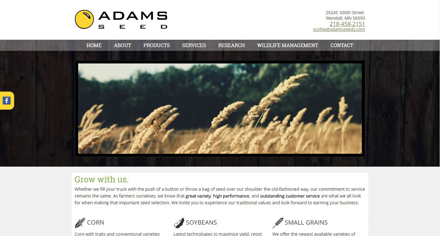 Seed Distributor New Website design
