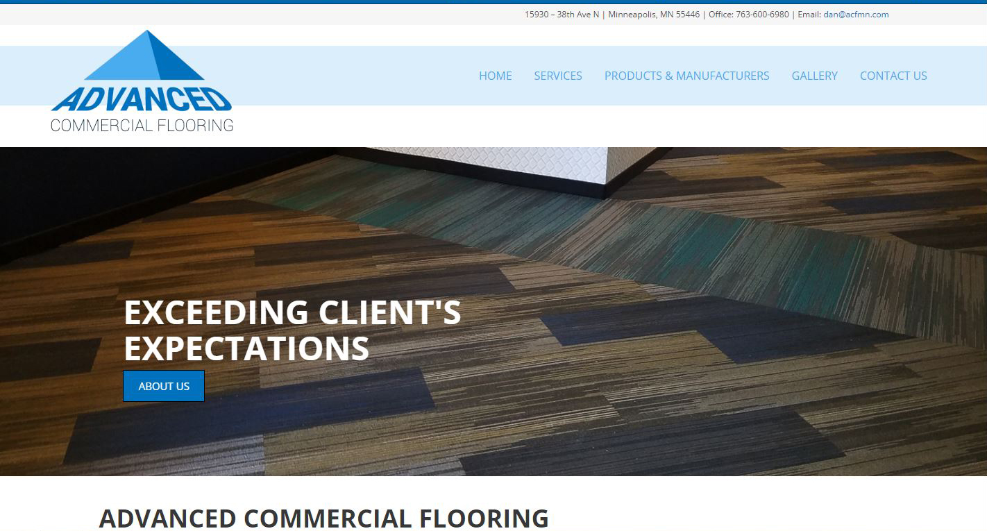 Flooring Contractor New Website design
