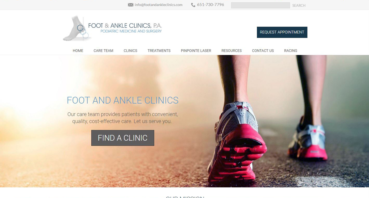 Podiatrist New Website design