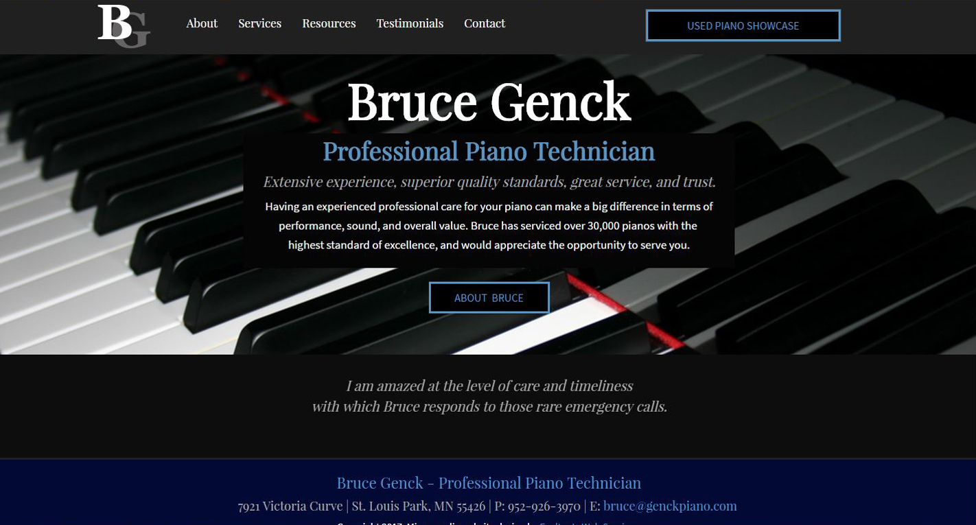 Technician New Website design