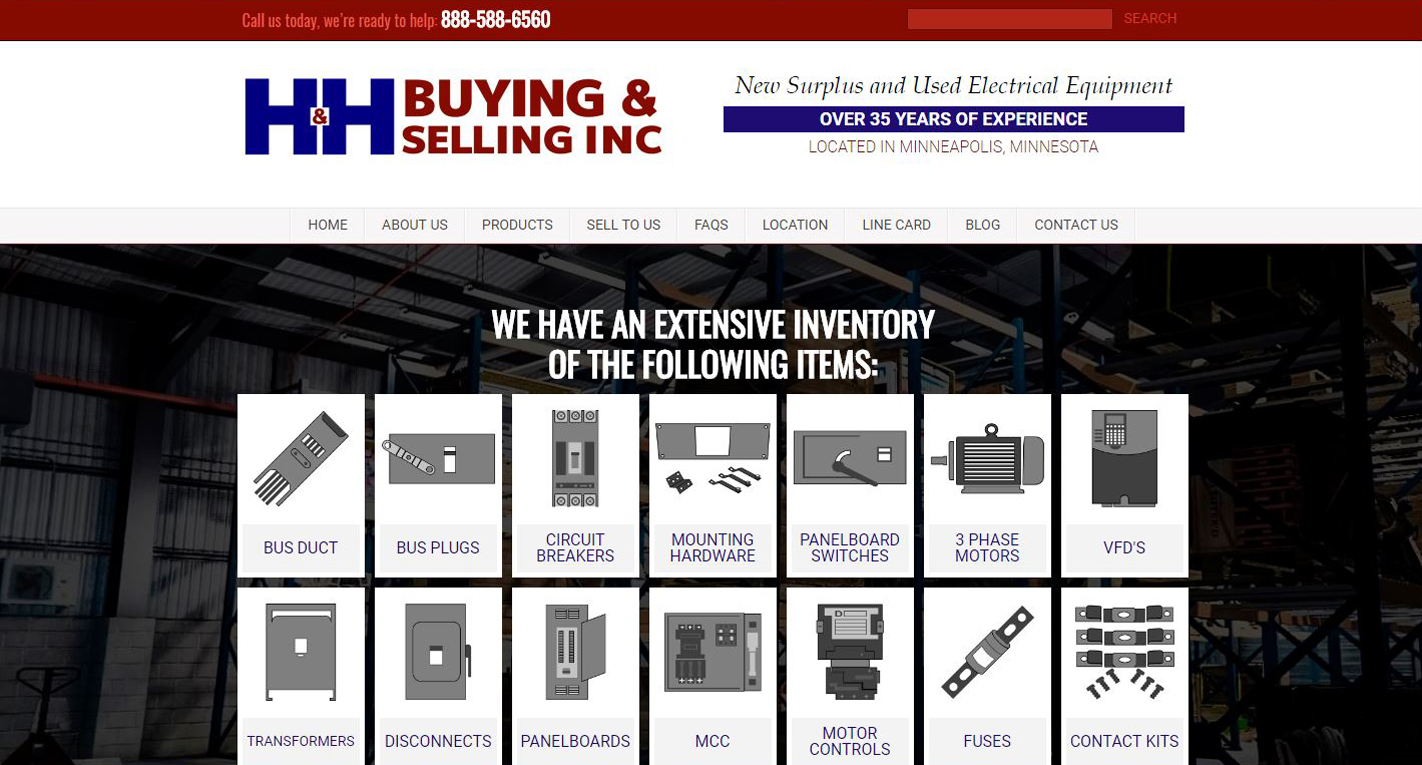 Electrical Surplus New Website design