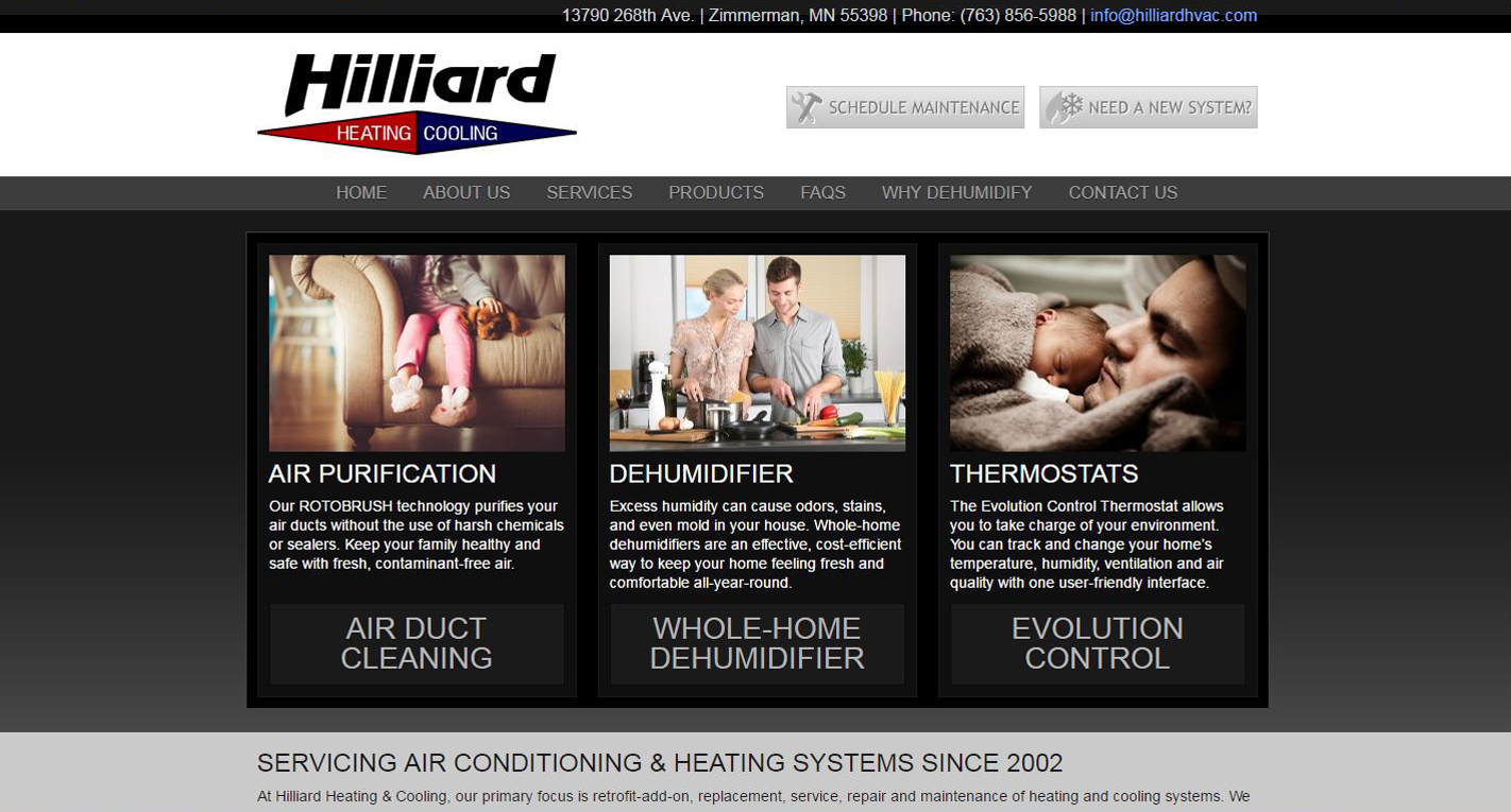 HVAC New Website design