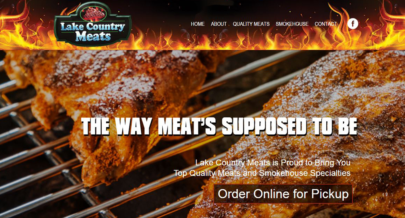 Butcher New Website design