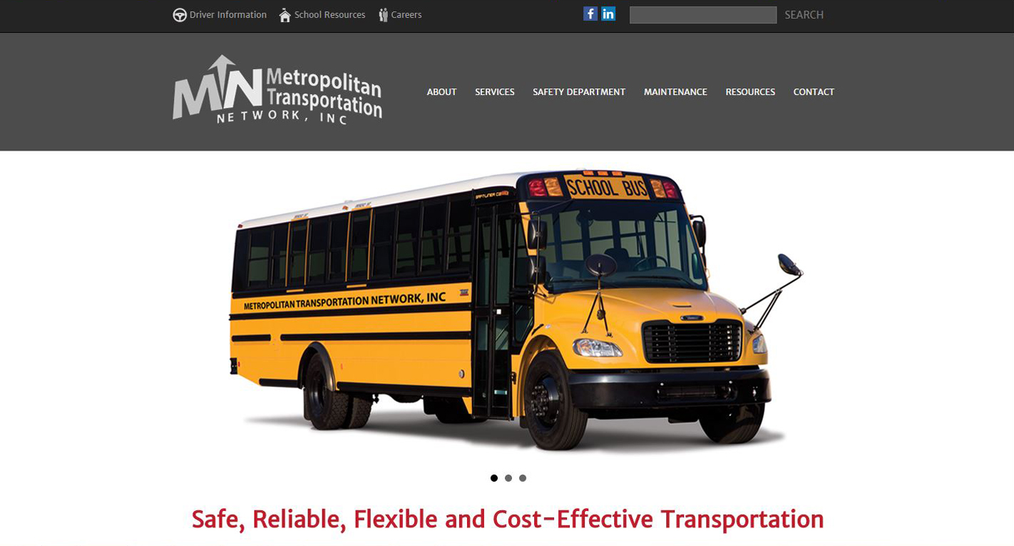 School Bus Transportation New Website design