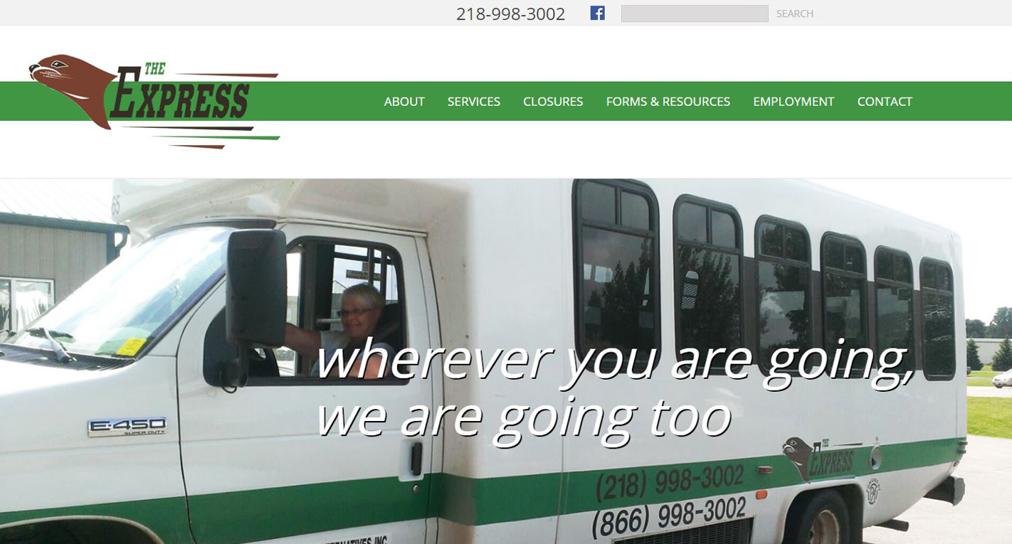 Shuttle Service New Website design