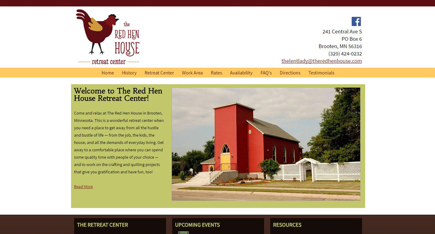 Bed & Breakfast New Website design