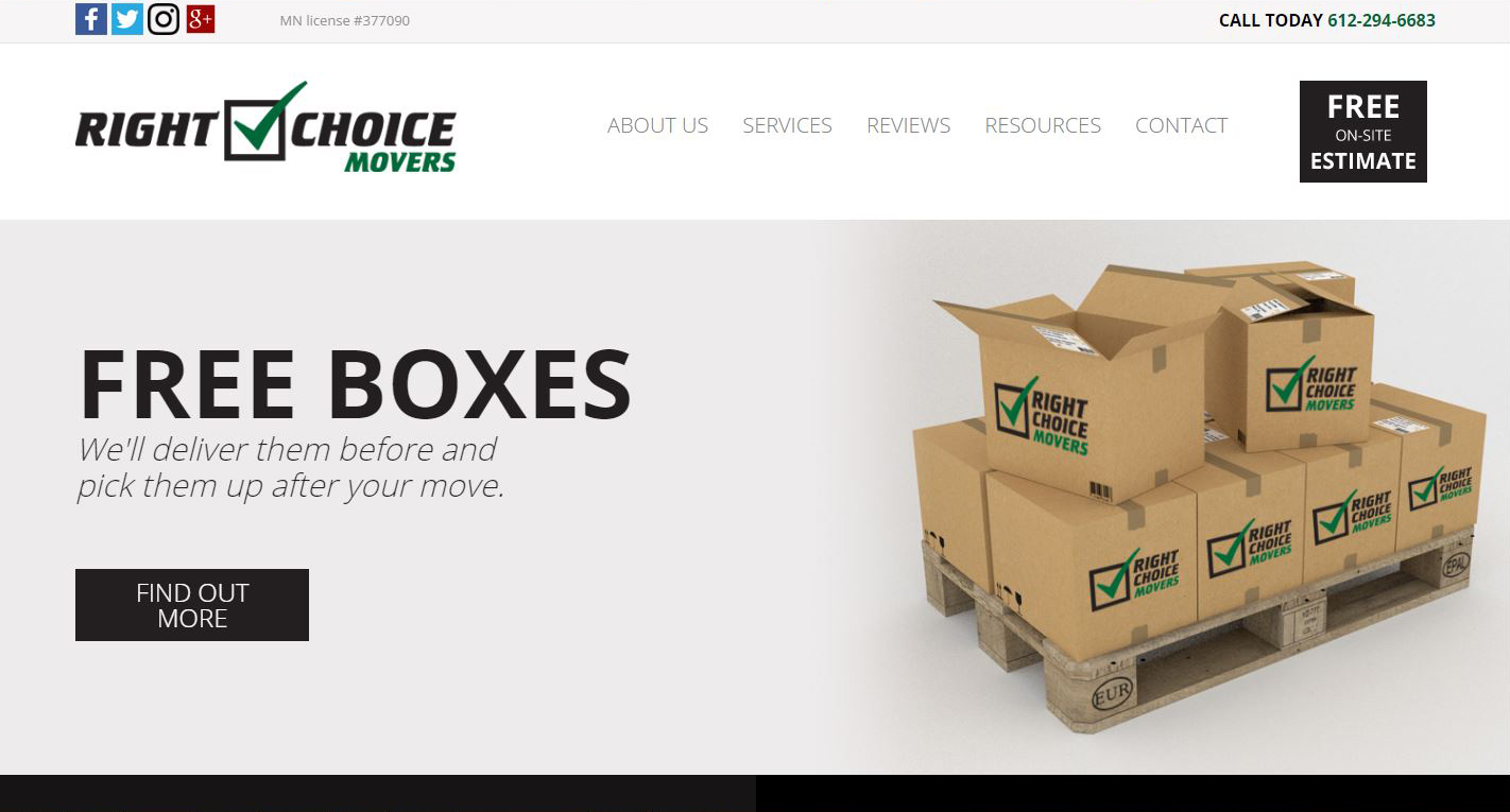 Moving business New Website design