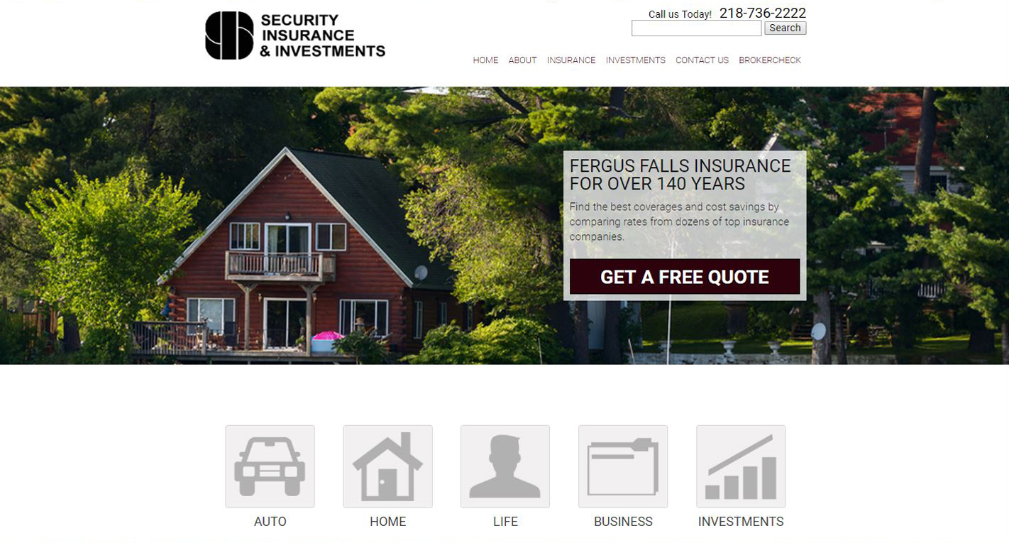 Insurance New Website design