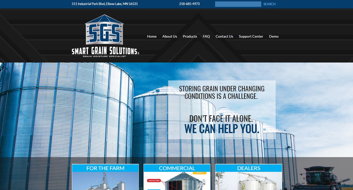 Agricultural Service New Website design