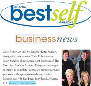 The Exercise Coach Featured in Atlanta Best Self Magazine