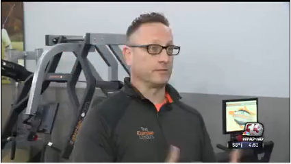 Brian Stodola, co-owner of The Exercise Coach West Des Moines on WHO TV Channel 13