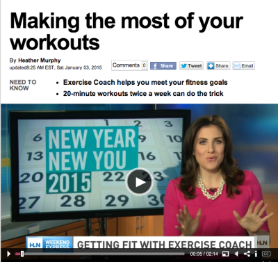 The Exercise Coach on CNN's Weekend Express