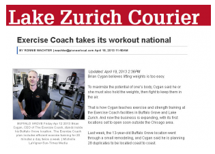 The Exercise Coach Featured In Chicago Sun Times Pioneer Press