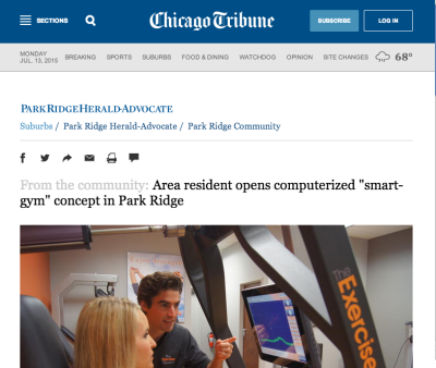 The Exercise Coach Arlington Heights Featured in the Chicago Tribune