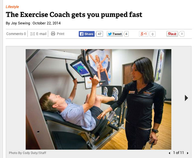 The Exercise Coach West University Featured on Chron.com