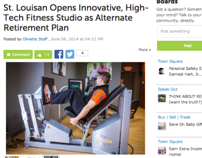 The Exercise Coach Featured In Olivette Patch