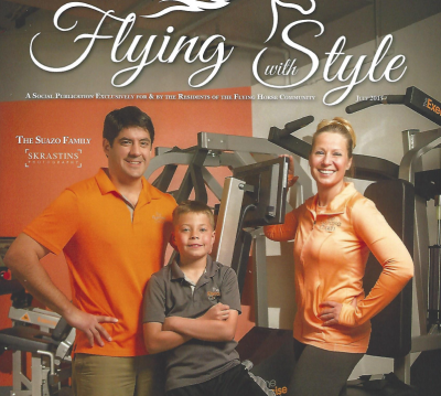 Suazo Family and The Exercise Coach Featured in Flying with Style Magazine