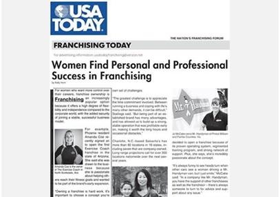 The Exercise Coach Featured in USA Today Article; Women in Franchising