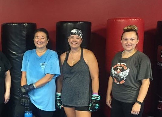 Chantelle and family after Kickboxing