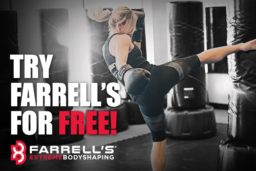 Girl Kickboxing at Farrell's