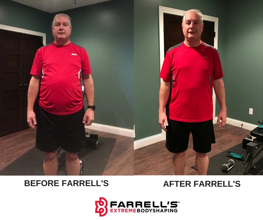 Shawn L. Before and After Farrells Bettendorf 10-week challenge