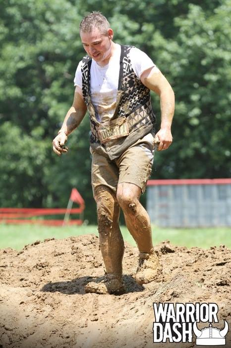 Jeremiah at Warrior Dash after Joining Farrells