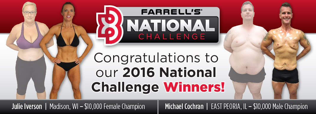 2016 Farrell's eXtreme Bodyshaping National Challenge Winners