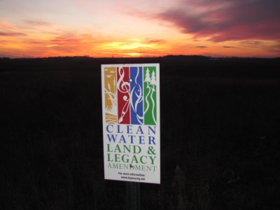 Nordby clean water legacy sign