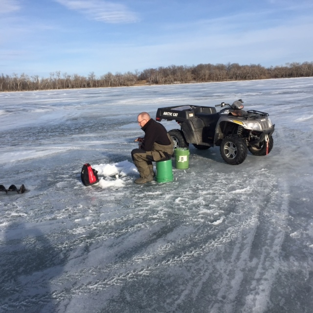 Fish and game club goes ice fishing for Lake fishing games
