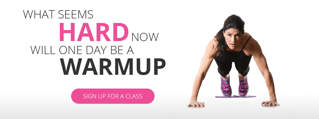 What seems hard now will one day be a warmup. Sign up for a class