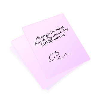 verbal contract change on a napkin.bmp