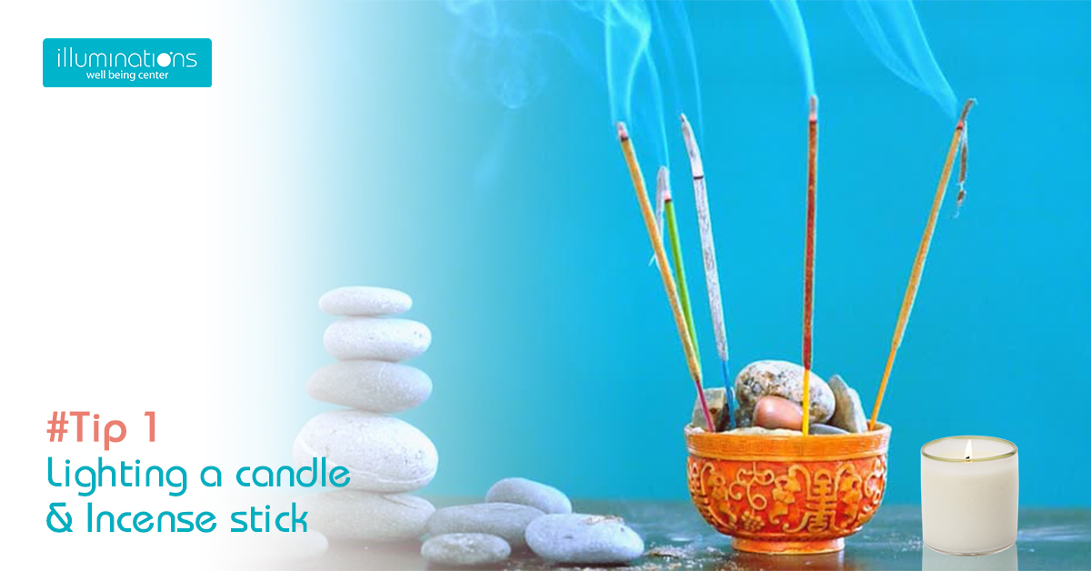 Space Clearing using incense stick