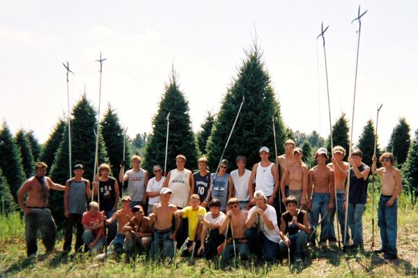 Friendly Chrsitmas tree farm crew