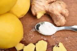 Ginger Lemon with Spoon