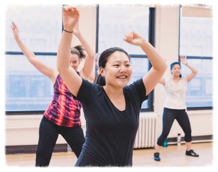 Zumba student at M Dance & Fitness in NYC