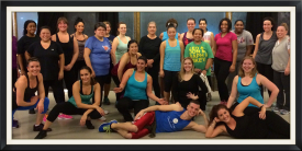 M Dance & Fitness group photo after Sampler event