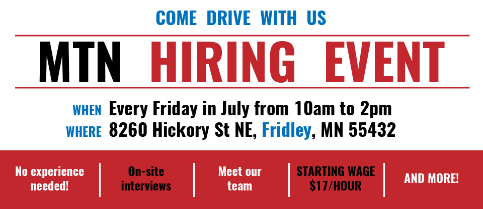 MTN open house in Fridley every Friday in July from 10am to 2pm
