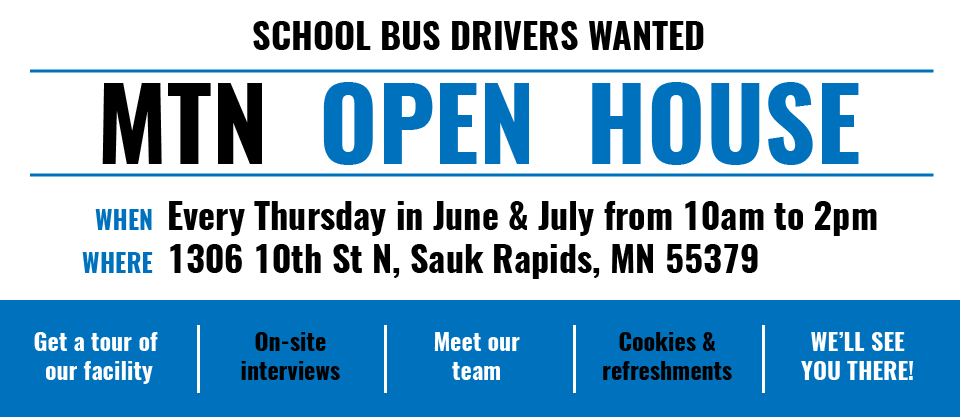 MTN open house in Sauk Rapids every Thursday in June and July from 10am to 2pm